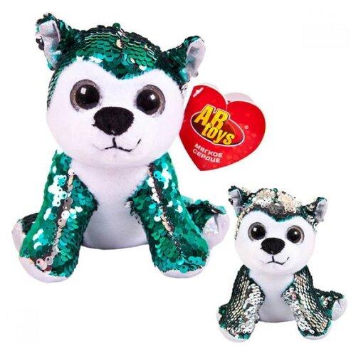 Фото - Мягкая игрушка ABtoys Собака с пайетками серо-зеленая 15 см мягкая игрушка abtoys собака m2032 14 см