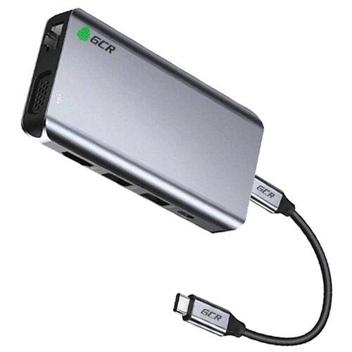 TypeC Hub 10 in 1 HDMI + VGA + RJ45 + USB3.0 x3 + Card Reader + Audio + TypeC PD аксессуар palmexx hdmi vga px hdmi vga