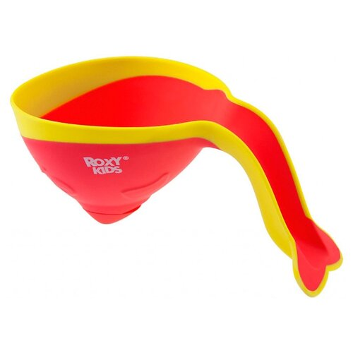 Ковшик для ванны Roxy kids Flipper RBS-004 с лейкой коралловый