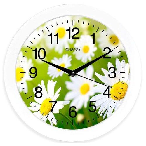 Часы настенные кварцевые Energy ЕС-98 ромашки часы настенные energy d300мм