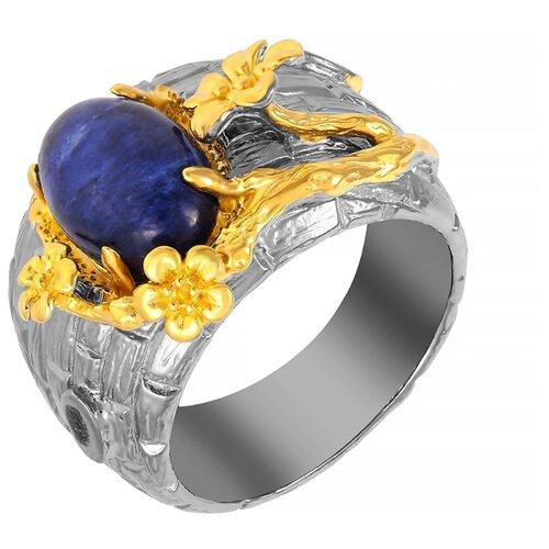 ELEMENT47 Широкое ювелирное кольцо из серебра 925 пробы с содалитами YR01220_KO_CD_BJ, размер 17- преимущества, отзывы, как заказать товар за 5668 руб. Бренд ELEMENT47