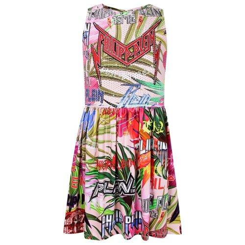 Платье PHILIPP PLEIN размер 116, розовый/зеленый