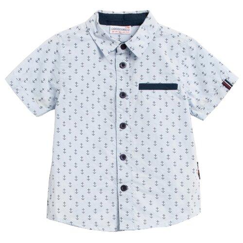 цена на Рубашка COCCODRILLO размер 86, голубой