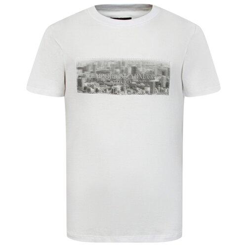 Футболка EMPORIO ARMANI, размер 122, белый