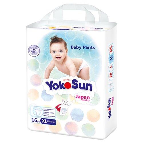 Фото - YokoSun трусики XL (12-20 кг) 16 шт. yokosun трусики xl 12 20 кг 76 шт игрушка для ванной котик йоко