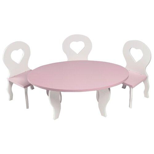 Купить PAREMO Набор мебели для кукол Шик (PFD120-49/PFD120-51/PFD120-48/PFD120-50/PFD120-47) белый/розовый, Мебель для кукол