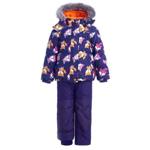 Купить Комплект с полукомбинезоном Premont Рэд Фокс WP91254 размер 120, purple, Комплекты верхней одежды