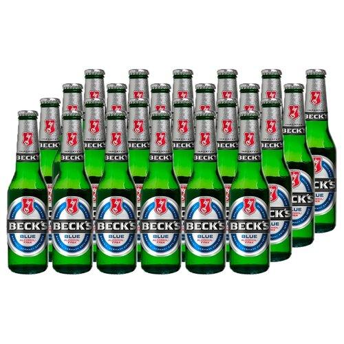Пиво безалкогольное светлое Beck's Blue, 0.33 л (24 шт.)