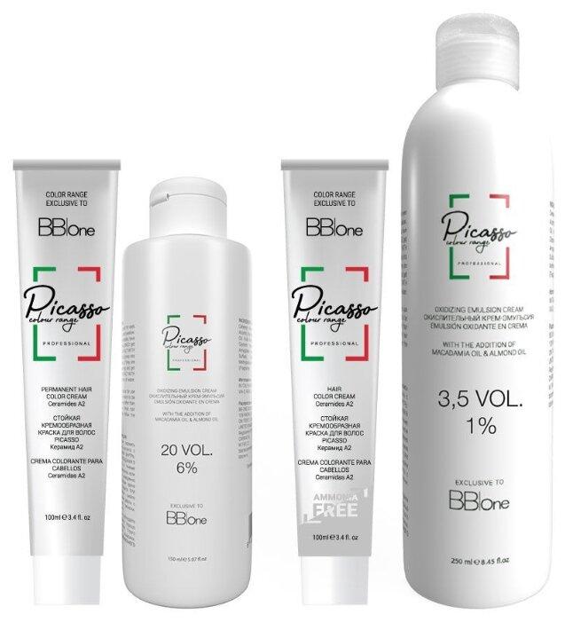 Купить BB One Picasso Colour Range набор для окрашивания седых волос в интенсивно русый по низкой цене с доставкой из Яндекс.Маркета