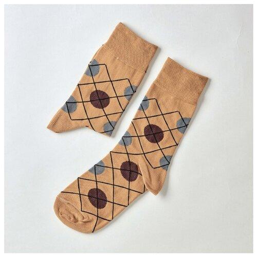 Фото - Носки St. Friday В поисках ромба, размер 38-41 , голубой/бежевый/коричневый носки st friday египетская сила размер 38 41 белый коричневый желтый