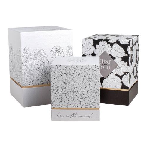 Фото - Набор подарочных коробок Дарите счастье Черно-белый, 3 шт. белый/черный набор подарочных коробок дарите счастье универсальный 10 шт бежевый белый черный