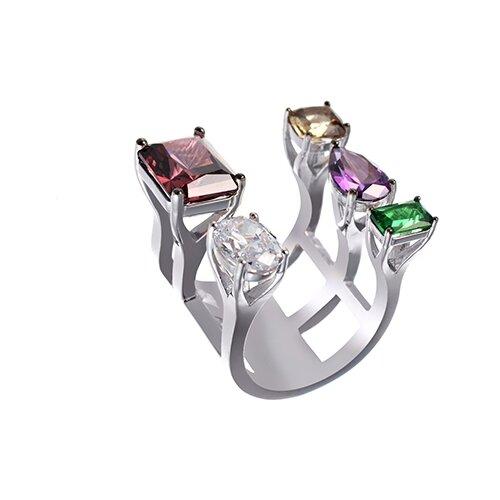 Фото - ELEMENT47 Широкое ювелирное кольцо из серебра 925 пробы с кубическим цирконием F-688R_001_WG, размер 16.25 element47 широкое ювелирное кольцо из серебра 925 пробы с кубическим цирконием f 642r 001 wg размер 16