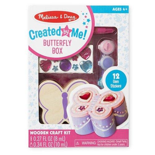 Купить Melissa & Doug Набор для детского творчества Создай свою шкатулку Бабочка (8853), Поделки и аппликации