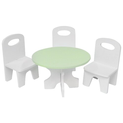 Купить PAREMO Набор мебели для кукол Классика (PFD120-39/PFD120-37/PFD120-41/PFD120-38/PFD120-40) белый/салатовый, Мебель для кукол