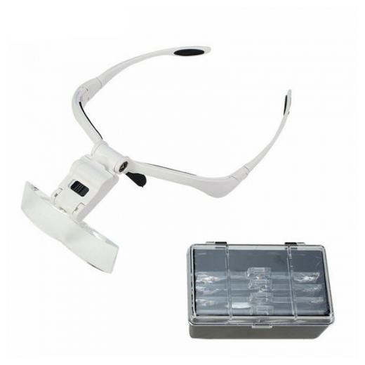 Стоит ли покупать Очки-лупа бинокулярные с подсветкой для работы с мелкими предметами 5 линз LiZi? Отзывы на Яндекс.Маркете
