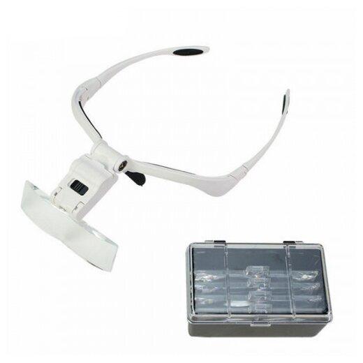 Очки-лупа бинокулярные с подсветкой для работы с мелкими предметами 5 линз LiZi — купить по выгодной цене на Яндекс.Маркете
