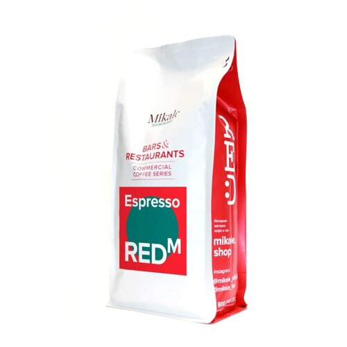 Кофе в зернах Mikale Bars&Restaurants Espresso RED M, арабика/робуста, 1000 г