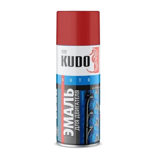 KUDO аэрозольная Эмаль для двигателя 520 мл красный