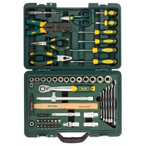 Набор инструментов Kraftool (59 предм.) 27977-H59 зеленый набор инструментов kraftool 70 предметов industry 27977 h70