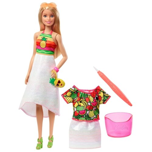 Купить Кукла Barbie Крайола Радужный фруктовый Блондинка, 29 см, GBK18, Куклы и пупсы