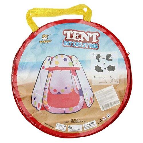 Палатка BabySit Игровой домик (50429) белый/красный
