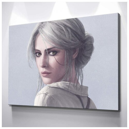 Картина Цири - Ведьмак 3 40х60 см. натуральный холст