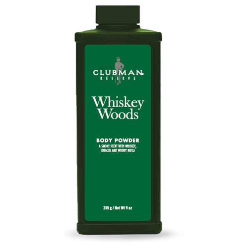 Clubman Whiskey Woods Body Powder - Пудра для тела Виски 255 гр