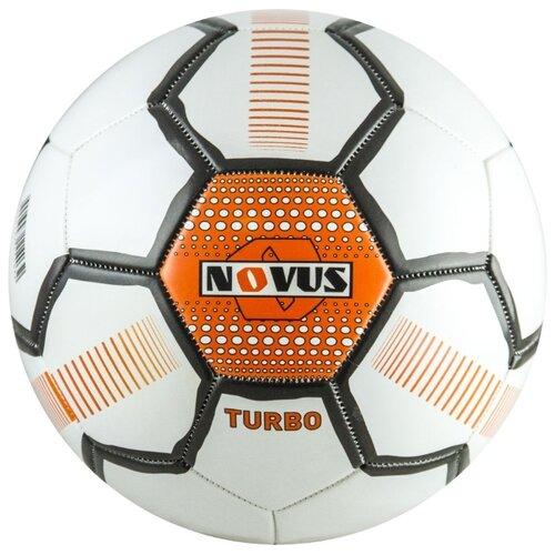Футбольный мяч Novus TURBO белый/черный/оранжевый 5