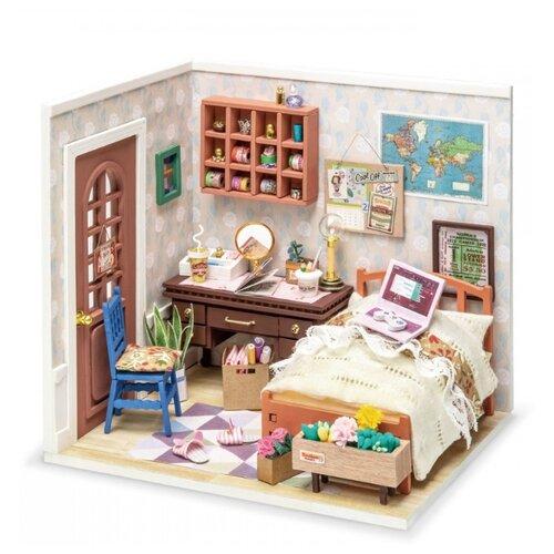 Купить 3D деревянный конструктор Миниатюрный дом Столовая миссис Чарли, Robotime, Сборные модели