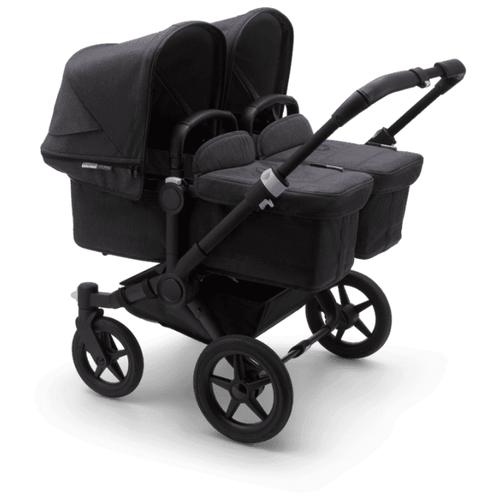Универсальная коляска Bugaboo Donkey 3 Twin (2 в 1) black/washed black/washed black, цвет шасси: черный