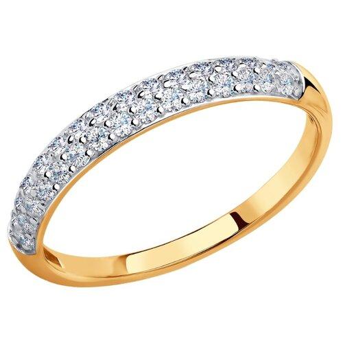 SOKOLOV Кольцо из золота с фианитами 017149, размер 16