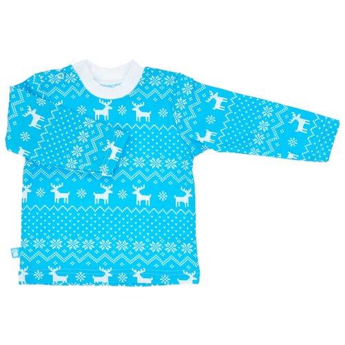 Купить Лонгслив KotMarKot размер 80, голубой, Футболки и рубашки