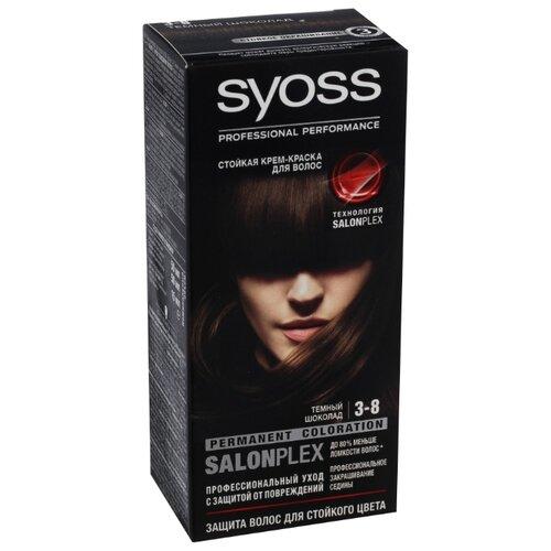 Syoss Color Стойкая крем-краска для волос, 3-8 Темный шоколад