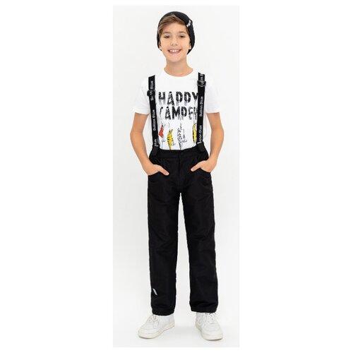 Купить Брюки Button Blue 120BBUA6401 размер 158, черный, Полукомбинезоны и брюки