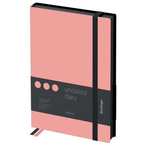 Купить Ежедневник Berlingo Instinct недатированный, искусственная кожа, А5, 136 листов, фламинго, Ежедневники, записные книжки