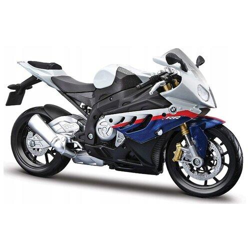 Купить Мотоцикл Maisto BMW S 1000 RR (20-10042) 1:12 17 см белый/синий, Машинки и техника