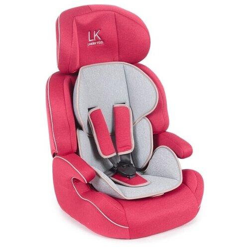 Автокресло группа 1/2/3 (9-36 кг) Lider Kids City Travel Denim, красный/серый автокресло группа 1 2 3 9 36 кг little car ally с перфорацией черный