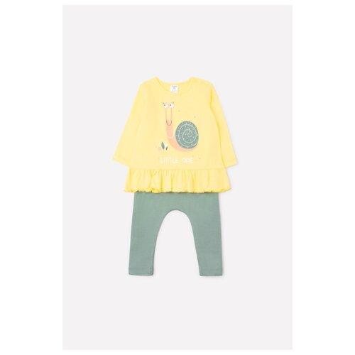 Купить Комплект одежды crockid размер 74, светло-желтый/милитари, Комплекты
