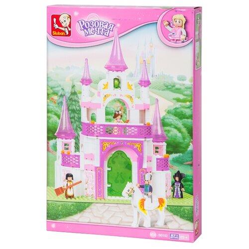 Купить Конструктор SLUBAN Розовая мечта M38-B0153 Фантастический замок, Конструкторы