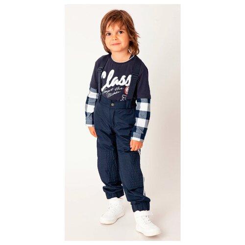 Купить Брюки Gulliver 22005BMC6403 размер 128, синий, Полукомбинезоны и брюки