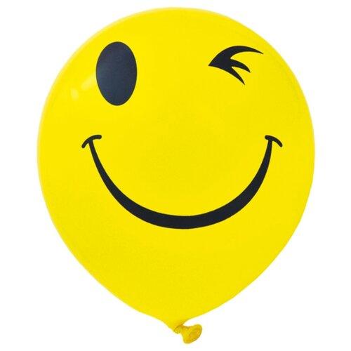 Набор воздушных шаров Action! Смайлы (20 шт.) желтый