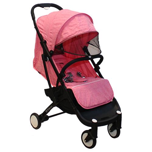 Купить Прогулочная коляска Yoya Plus розовый/черная рама, цвет шасси: черный, Коляски