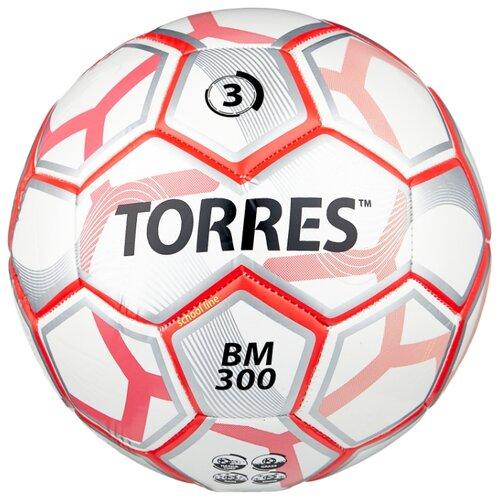 Футбольный мяч TORRES BM 300 белый/серебристый/красный 3