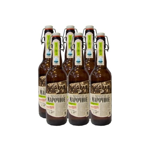Пиво безалкогольное светлое Афанасий Марочное 0,5 л х 6 шт