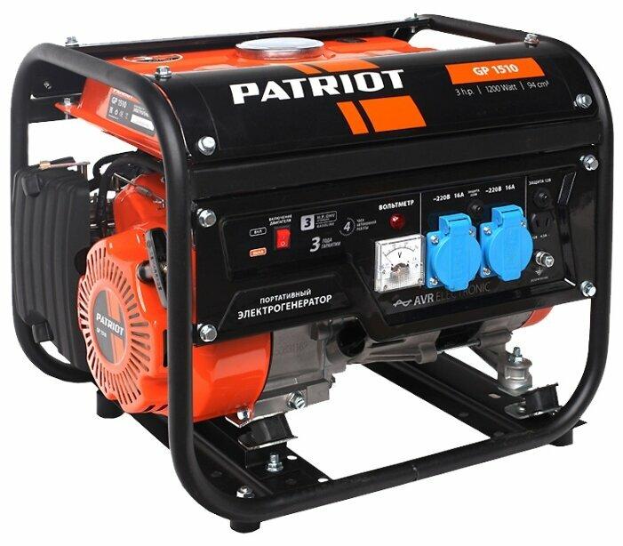 Бензиновый генератор PATRIOT GP 1510 (1000 Вт)