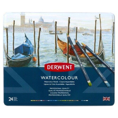 Купить Derwent Акварельные карандаши WaterColour, 24 цвета (D-32883), Цветные карандаши