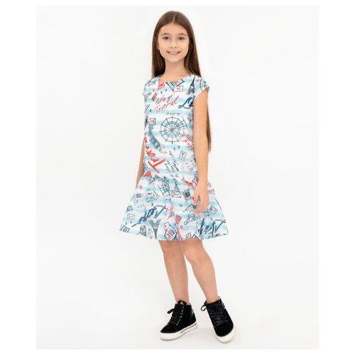 Платье Button Blue размер 110, белый платье button blue button blue bu019egjgw84