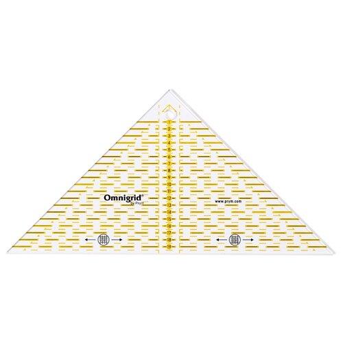 Купить Prym Линейка для пэчворка треугольник, 20 см прозрачный, Инструменты и аксессуары