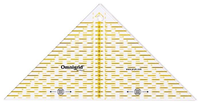 Prym Линейка для пэчворка треугольник, 20 см