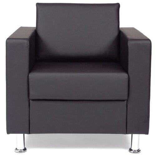 Классическое кресло Chairman Симпл размер: 82х83 см, обивка: искусственная кожа, цвет: черный